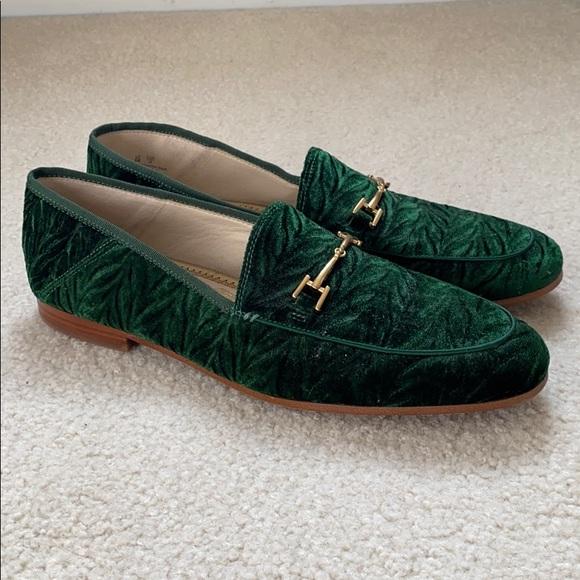 Loraine Emerald Green Velvet Loafers